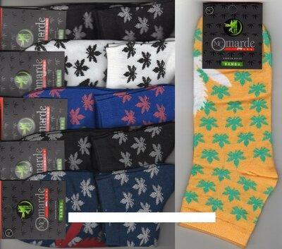 Носки мужские демисезонные бамбук Marde, ароматизированные, 41-45 р, средние, ассорти,12 пар Турция