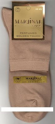 Носки мужские 100% шёлковый хлопок Marjinal, Турция, ароматизированные, средние,тёмно-бежевые,12 пар