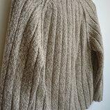 Трендовый вязаный свитер на мальчика 5-6 лет, винтаж
