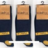 Носки мужские 100% шёлковый хлопок Marjinal, Турция, ароматизированные, без шва, тёмно-синие, 6пар