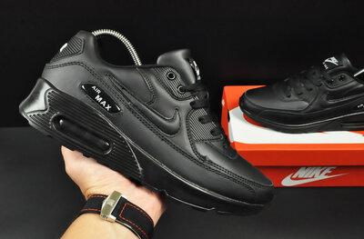 Кроссовки Nike Air Max 90 , мужские, черные кожа