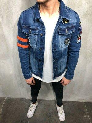 Стильная мужская джинсовка s-m-l-xl