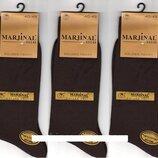 Носки мужские 100% шёлковый хлопок Marjinal, Турция, ароматизированные, без шва, коричневые,6 пар