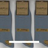 Носки мужские 100% шёлковый хлопок Marjinal, Турция, ароматизированные, без шва, серые,6 пар
