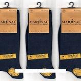 Носки мужские демисезонные Marjinal шёлковый хлопок с эластаном, антибактериальные, синие, 12 пар