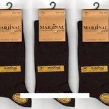 Носки мужские демисезонные Marjinal шёлковый хлопок с эластаном, антибактериальные, коричневые,6 пар