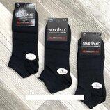 Носки мужские 100% шёлковый хлопок короткие Marjinal, Турция, ароматизированные, чёрные ,12 пар