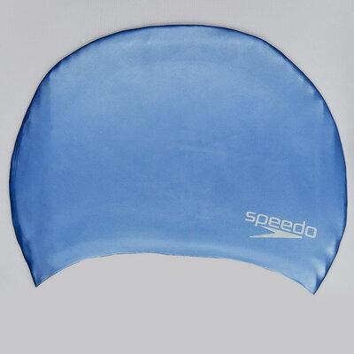 Шапочка для плавания Speedo Plain Moulded 984C816 силикон, цвет голубой