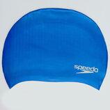 Шапочка для плавания Speedo Plain Moulded 842610 силикон, цвет синий