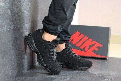 Nike 95 кроссовки мужские демисезонные черные 8155