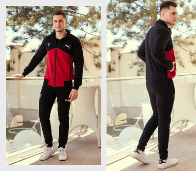 Мужской спортивный костюм двухнить 1191 Пума в расцветках