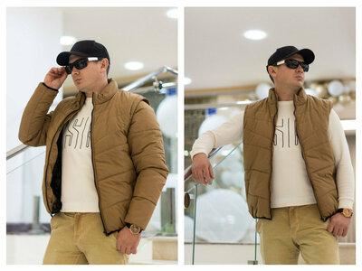 93 Мужская куртка-жилет трансформер