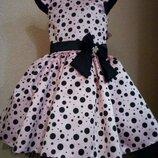Пышное детское выпускное стиляги нарядное платье с