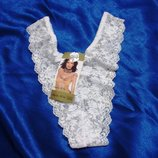 Трусы жен белый Шикарные. гипюр кружево размеры 46-50 стрейч