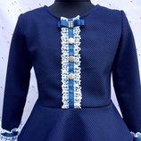 Школьная блуза из трикотажа