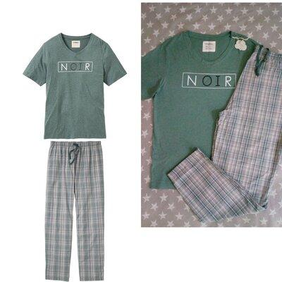 Мужская пижама домашний костюм, биохлопок, Livergy Германия, футболка штаны
