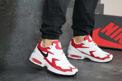 Кроссовки Nike Air Max 2, мужские, бело красные 8156