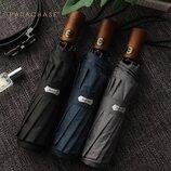 Мужской качественный зонт Автомат Антиветер Parachase Umbrella Black