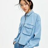 Укороченная джинсовая рубашка PULL&BEAR p.S , M