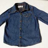 Zara. Джинсовая рубашка на баечке. 18-24 месяца.