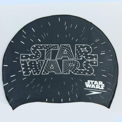 Шапочка для плавания детская Junior Slogan Print Star Wars 86C353 силикон, черный