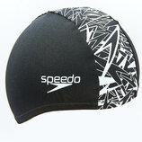 Шапочка для плавания Speedo Boom 72B351 лайкра, нейлон черно-белый