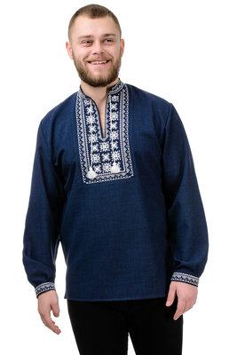 Вышиванка мужская лен-габардин gsr-020032 Орнамент сорочка рубашка
