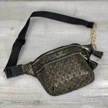 Стильная сумочка клатч на пояс