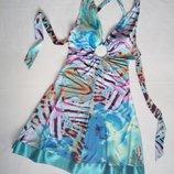 Платье с открытой спиной и завязками
