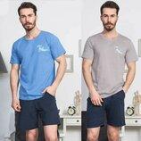 Пижама мужская футболка и шорты s-xl