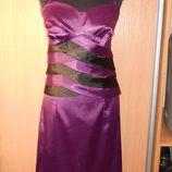 Шикарное атласное платье.48 размер
