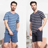 Пижама мужская футболка и шорты м-2xl