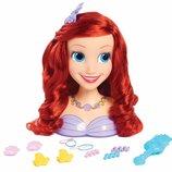 Just Play Голова манекен Ариель для причесок 87248 Disney Princess Basic Ariel Styling Head Doll