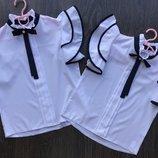Шикарная блуза с брошью для девочки