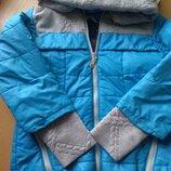 Куртка голубая на 5-6 лет шапка