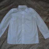 Новая белая рубашка F&F 6-7 лет рост 116 Англия
