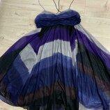 Воздушное яркое платье размер с-м kookai