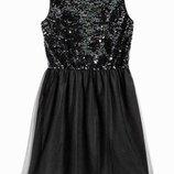 Шикарное платье паетки размер S от H&M