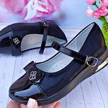 Туфли школьные для девочки р-р 30-36 черные фирма башили