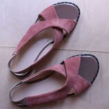 Босоножки сандалии, натуральная замша и кожа уour step