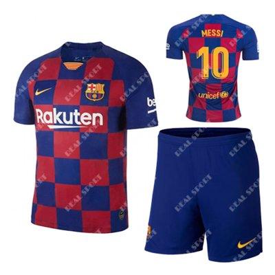 Детская футбольная форма Фк Барселона 2019-2020, Месси 10. Основная форма