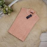 Очень красивый и качественный топ блуза плиссе нежного цвета от Marks & Spencer рр 16 наш 50