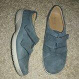 Туфли мокасины кожаные на липучках hotter 42 размер