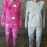 Пижама махровая тёплая подростковая Минни Маус, Шиншилла, махра, р.140-146-152-158-164-170