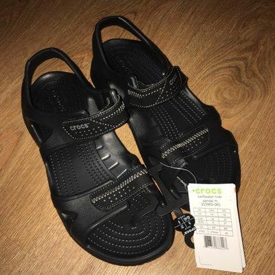 Мужские босоножки сандалии Crocs Mens Swiftwater River Sandal черные оригинал стелька от 27 до 29см