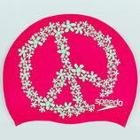 Шапочка для плавания Speedo Slogan Print 85C899 силикон, розовый