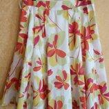 Яркая летняя юбка в цветах, распродажа,L