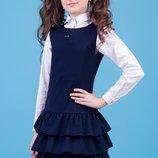 Школьные сарафаны Зиронька черные, синие 40-9027 рост 116-134см в наличии