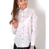 Блуза школьная 2894 Mevis Размеры 146- 164 розовый, голубой