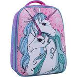 Рюкзак школьный ранец Bagland Turtle 17л.портфель для девочки с единорогом каркасный единорогами